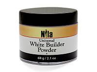 Nila Пудра акриловая белая White Builder, 175 г.