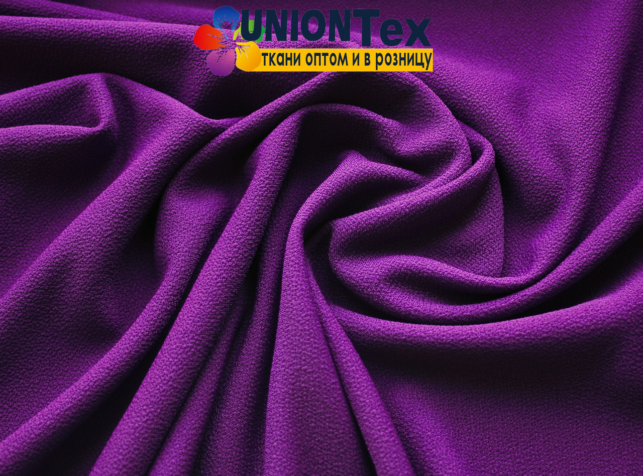 Креп- трикотаж фиолетовый