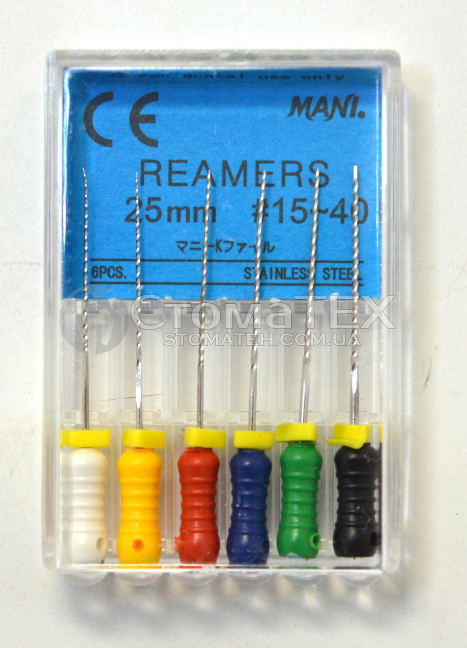 Римеры(Reamers) 25мм, уп.6шт, №15-40, Mani