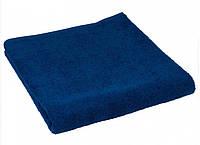 Махровое полотенце синие 70х140 см
