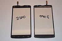 Оригинальный тачскрин / сенсор (сенсорное стекло) для LG Optimus L80 Dual SIM D380 (черный цвет) + СКОТЧ