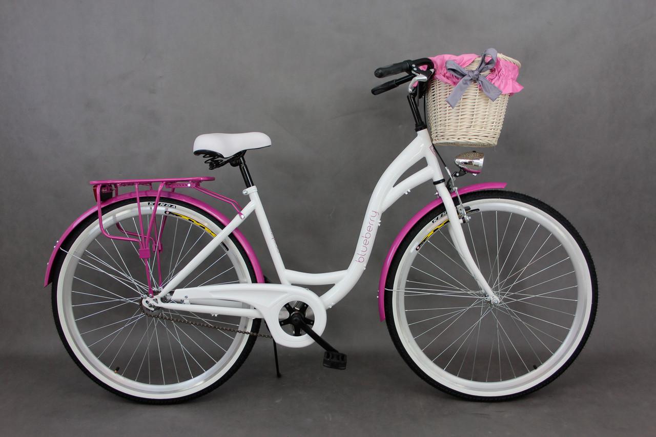 Велосипед Goetze BLUEBERRY 28 3-передачи + фара и корзина в подарок