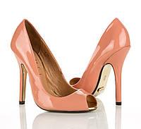 Туфли персиковые 35 рзм.