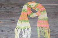 Детский вязаный шарф с бахромой