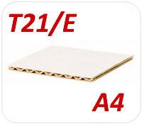 Белый трехслойный гофрокартон в пачке А4 Т21/Е
