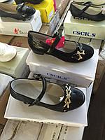 Детские школьные туфли на каблуке для девочек CSCK.S оптом Размеры 31-36