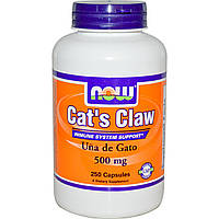 Кошачий коготь (Cat's Claw), Now Foods, Нау Фудз, 500 мг, 250 капсул