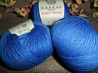 Gazzal Baby wool (Газзал беби Вул)  830 васильковый
