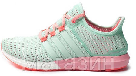 Женские кроссовки Adidas CC Gazelle Boost Sea Breeze Адидас Газель Буст зеленые, фото 2