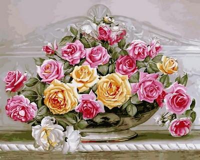 "Картина по цифрам ""Роскошные розы"" (VP576) Турбо 40 х 50 см"
