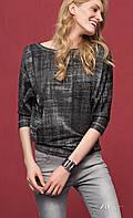 Женская блуза из вискозы цвета графит с рукавом три четверти. Модель Pamila Zaps.