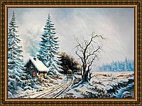 Картина в багетной раме Зимний пейзаж 300х400мм №323
