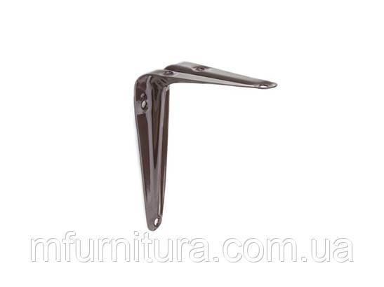 Консоль металлическая/ 125 х 100 мм / коричневый