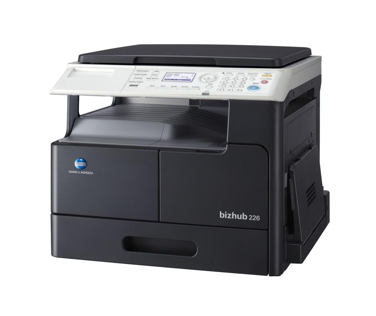 Konica Minolta bizhub 226, монохромное МФУ, А3, 22 стр./мин, копир, сетевой принтер, сканер, дуплекс.