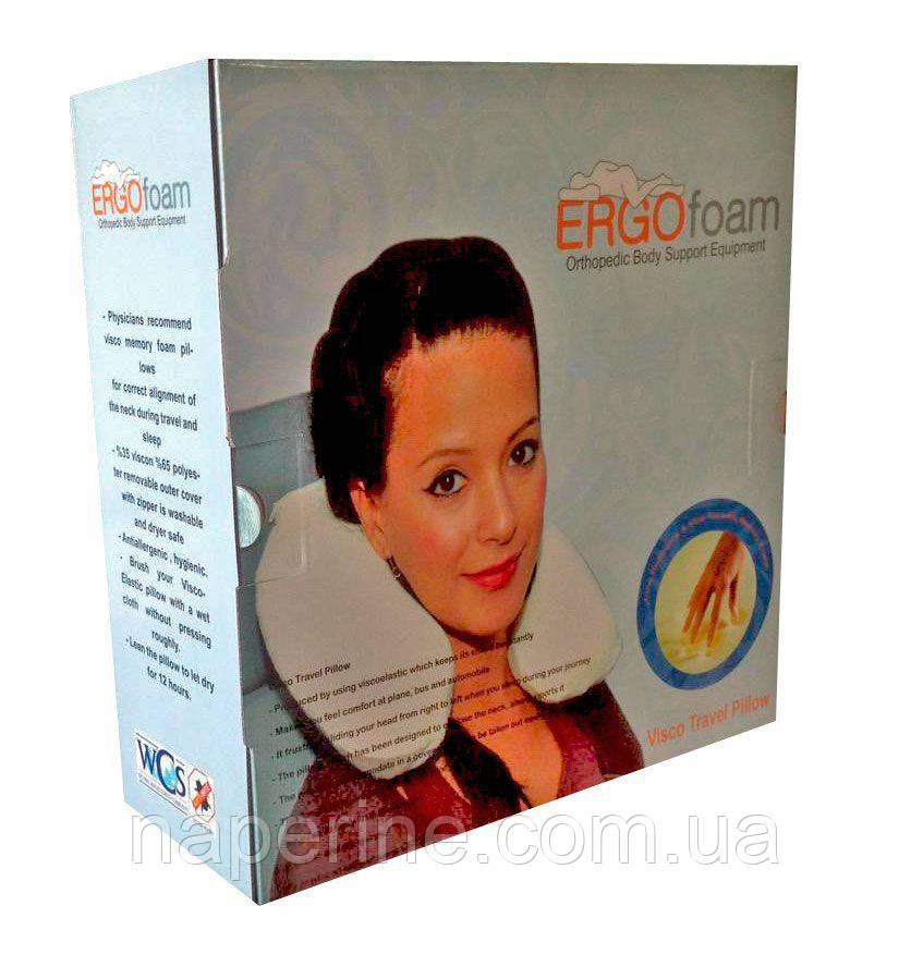 Подушка ортопедическая- валик Memory Foam - 27,5 х 32 см