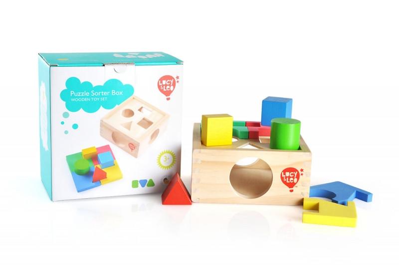 """Деревянная игрушка Сортер """"Занимательная коробка"""" LUCY&LEO (LL112)"""
