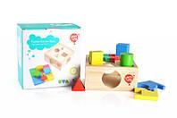 """Деревянная игрушка Сортер """"Занимательная коробка"""" LUCY&LEO (LL112), фото 1"""