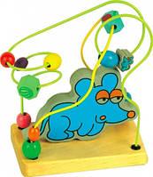 """Деревянная игрушка Пальчиковый лабиринт """"Мышка"""""""