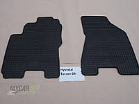 Резиновые ковры в салон перед. Hyundai Tucson 04- (CLASIC) кт-2 шт.