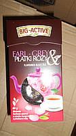 Чай черный с чайной розой листовой Big-Active Essence Earl Grey 80g (Польша