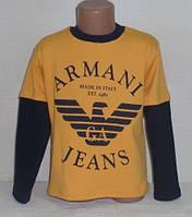 """Детские батники для мальчиков """"АРМАНИ"""" 6 лет, 100% хлопок.Детская одежда оптом"""