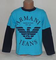 """Детские батники для мальчиков """"АРМАНИ""""4,5,6 лет, 100% хлопок.Детская одежда оптом"""