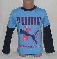 """Детские батники для мальчиков """"ПУМА"""" 6,7 года 100% хлопок.Детская одежда оптом"""