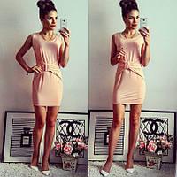 Карамельное летнее платье