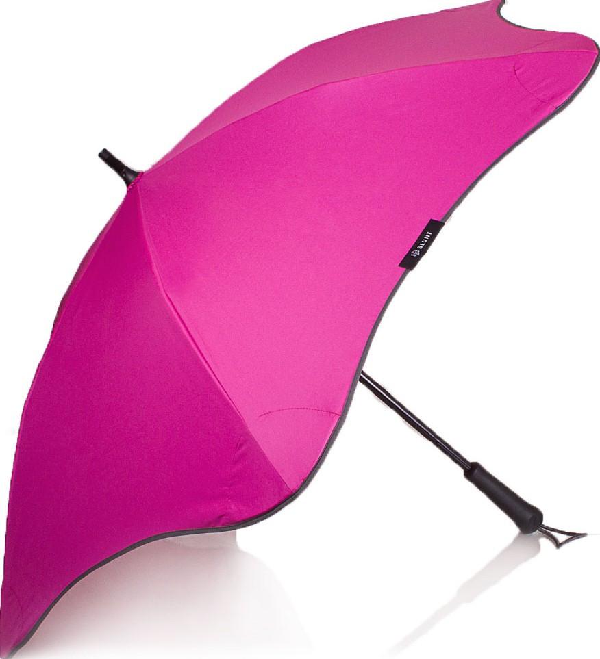 Яркий женский зонт-трость механический BLUNT (БЛАНТ) Bl-lite-plus-pink розовый