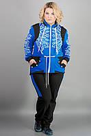Женский спортивный костюм свободного силуэта Марго цвет электрик / размер, 54, 60
