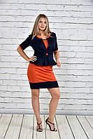 Женский жакет баска 0305 цвет синий до 74 размера