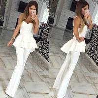 Комбез женский стильный 426 белый,магазин женской одежды