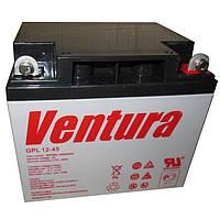 Аккумуляторная батарея Ventura GPL 12-45, емкость 45Ач, для ИБП