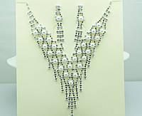 Торжественный набор бижутерии с жемчужинами. Недорогие свадебные украшения оптом. 116