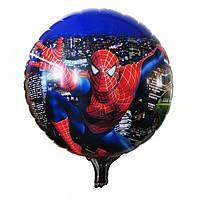 Фольгированный шарик Спайдер Мен синий