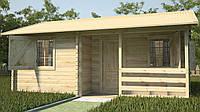 Готовый деревянный дачный дом