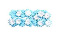 Набор цветов из шелковичной бумаги 28мм 2 вида 20 шт голубой SCB300803