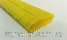 Креп-бумага Италия 50см*2,5м 40г 0292 желтый