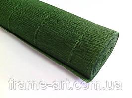 Креп-папір Італія 50см*2,5 м 180г/м2 591 темно-зелений 074