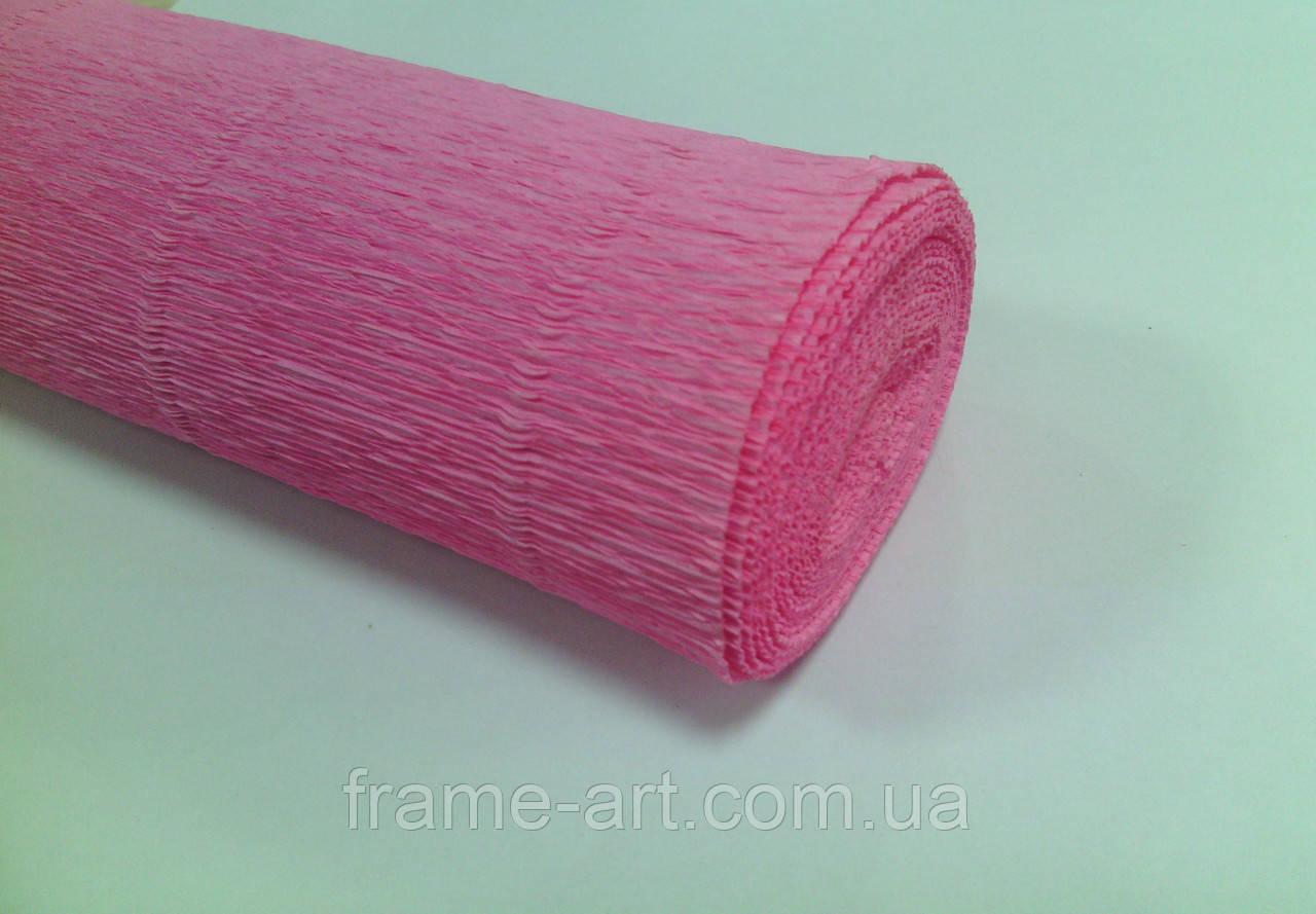 Креп-бумага Италия 50см*2,5м 180г/м2 554 розовый 074