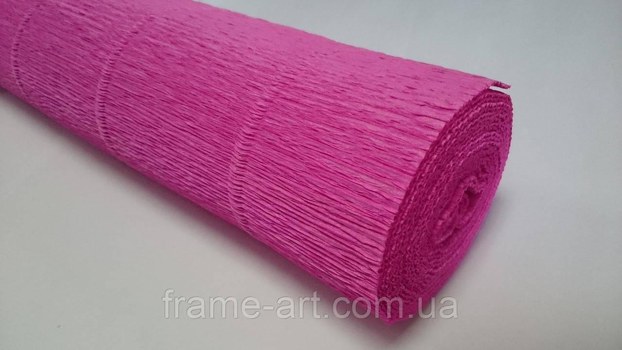 Креп-бумага Италия 50см*2,5м 180г/м2 550 темно-розовый 074