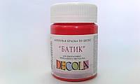 Краска акриловая для шелка 50мл Decola красная