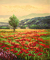 Схема для вышивки бисером POINT ART Перед грозой, размер 25х30 см