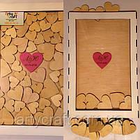 Рамка для пожеланий с сердечками (с гравировкой и покраской), фото 6