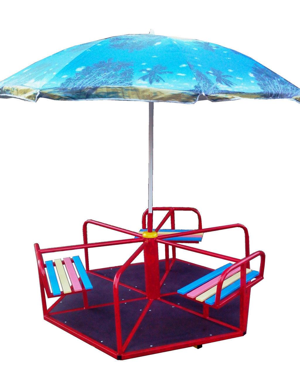 Карусель детская 6 местная с зонтиком.