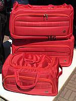 Дорожная сумка на колесах комплект 3 шт. разные цвета