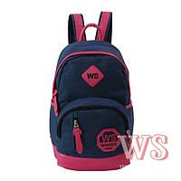 Рюкзак для девочки подростка, сине-розовый