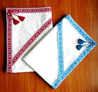 Крыжма с капюшоном в украинском стиле с вышивкой