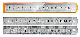 Линейка металлическая, 15 см