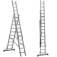 Трехсекционная алюминиевая лестница Virastar 3x8 ступеней